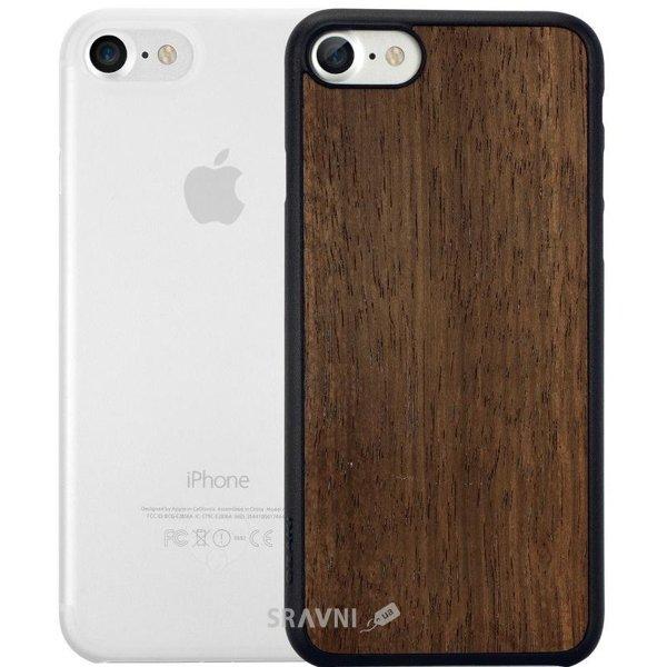 Фото Ozaki O!coat Jelly +wood 2in1 iPhone 7 Ebony+Clear (OC721EC)