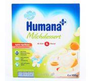 Фото Humana Продукт кисломолочный с яблоком, абрикосом, 400 г
