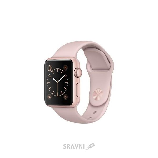Фото Apple Watch Series 1 38mm Rose Gold Aluminum Case with Pink Sand Sport Band (MNNH2)