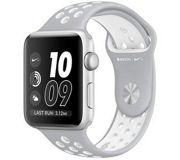 Фото Apple Watch Nike+ 38mm Silver Aluminum Case with Silver/White Nike Sport Band (MNNQ2)