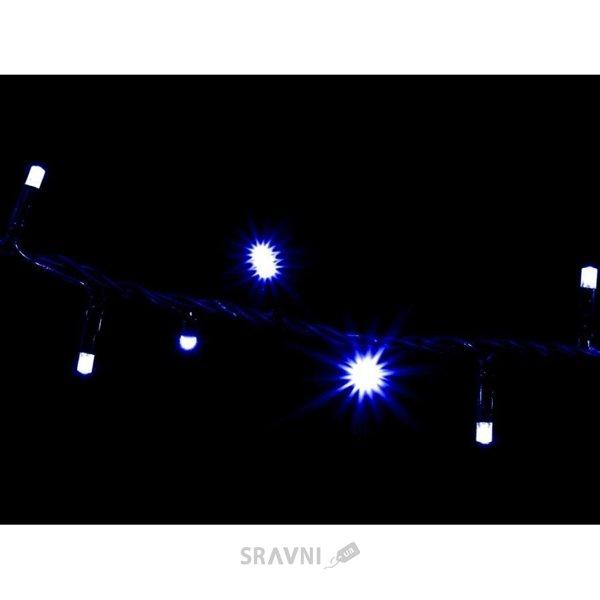 Фото Delux String C200 LED 10m синий/черный IP44 (10008312)