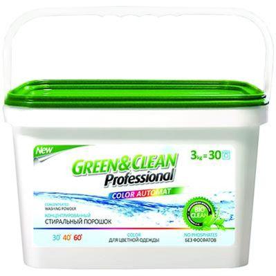 Фото Green Clean Стиральный порошок Professional для цветной одежды 3 кг